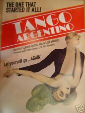 TANGO ARGENTINO POSTER