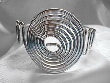 Oberarmreif, große Spirale, verstellbar, Gothic, Biker, Modeschmuck, silber, NEU