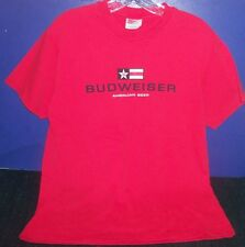 Red Budweiser T Shirt sz Adult Medium