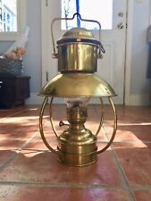Brass Trawler Oil Lamp.