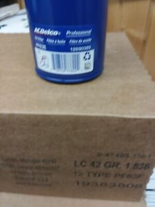 NEW Engine Oil Filter AC Delco PF63E DURAPACK PF63F BULK 12 PER CASE OEM