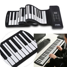 Rechargeable 61 Keys Silicone Flexible Roll Up MIDI Electronic Piano Keyboard