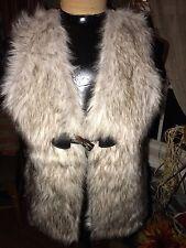 Love by Design Sweater Vest w/Faux Fur Size S