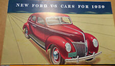 Original 1939 NEW FORD V-8 CARS catalog brochure 10-38 edition, 1 of 3 revisions