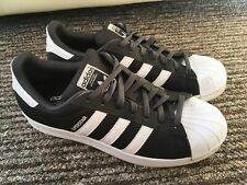 Adidas Superstar Trainers Mens Uk 8 Black White Excellent