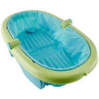 Baignoire Bébé Pliable et Portable Bleu et Vert Summer Infant