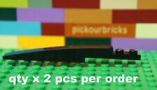 LEGO 13731 Black 8x1 BRICK w/ Bow Slope Curved 8 x 1 w/ 1x2 Plate - 2 Pcs