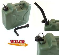 Army Can 10 Litre Plastic jerry Can 10L Petrol Diesel Can durable container