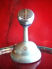 Vintage RARE 1940's Shure Brothers 707 A crystal microphone old w S-36 stand