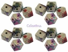 Multi Acrylic Square Jewellery Making Beads