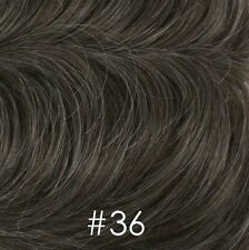 Dark Brown Straight Full Wigs for Men Black/Gray/Blonde