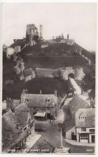 Dorset; Corfe Castle & Market Cross From Church RP PPC, 1930 PMK By Photochrom
