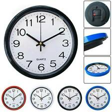 Round Wall Clock Bedroom Kitchen Clocks Quartz New Silent Sweep Movement Home