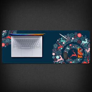 Floral & Deer Mouse Pad Large Size Laptop Pad XL Mousepad 800*300mm