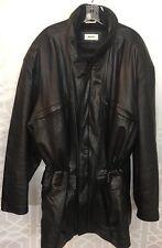 Bally Peau Leather Jacket Elastic Waist  Black Size 48