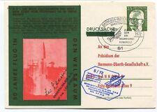 1972 Weltraum Jahre Flug Garmisch Drucksache Deutsche Bindespost SPACE SIGNED