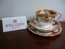 Royal Albert Vintage LADY HAMILTON MALVERN SHAPE TEA TRIO CUP SAUCER AND PLATE