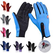 Winter Sports Warm Leather Gloves Full Finger Thermal Mitten Non-slip Waterproof