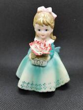 Vintage Lefton China January Birthday Girl Figurine Kw 7227