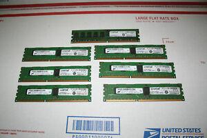 Lot of 6 - CT12872BB1339S Crucial 1GB 240-PIN 128MX72 DDR3 Fc3-1  plus 2Gb 256mh
