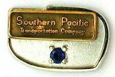 """Southern Pacific """"10 year service Pin"""" Price in one service pin, 1 blue stone"""