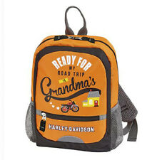 Harley-Davidson Kids Road Trip to Grandma's Mini Backpack 99842-Rust/Black