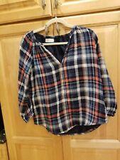 Velvet by Graham & Spencer Plaid Long Sleeve Shirt NWT XS