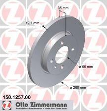 BMW E30 3 SERIES PAIR OF ZIMMERMANN FRONT BRAKE DISCS (34111154747)