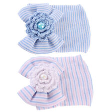 2 Stück Babymütze Baby Mädchen Mütze Neugeborene Erstlingsmütze