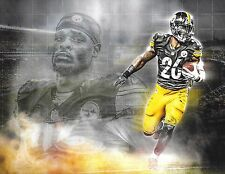 LEVEON BELL PITTSBURGH STEELERS COLOR 8X10 SUPER UNIQUE PHOTO