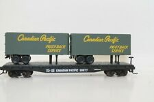 Atlas N Scale 2 Piggy-Back Flat Cars Canadian Pacific