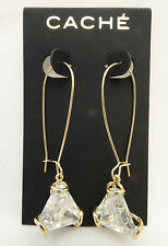 Luxurious New Crystal Rhinestone Drop Earrings by Cache with Tags #CE27