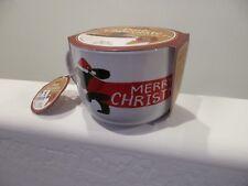 Dachshund Christmas Holiday Dog Cake in a Mug Dark Chocolate Cupcake Mug Cup NEW
