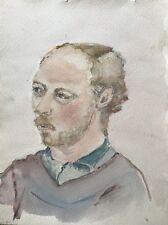 Watercolour Portrait Mann Red Blonde with Bart 30 x 40 CM