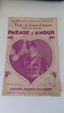 Parade d'Amour - Maurice Chevalier - Editions Salabert (1930)