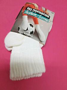 New Vintage No Nonsense Fashion Accents Runner Socks White 482 USA 1 Pair