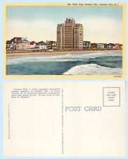 Ventnor Pier View  Atlantic City New Jersey Residences Curt Teich 1939 Postcard