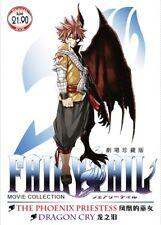 DVD Anime Fairy Tail Movie Collection The Phoenix Priestess & Dragon Cry English