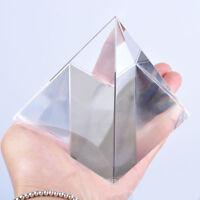 Egyptian Natural Clear Crystal Quartz Pyramid Home Decoration Decor