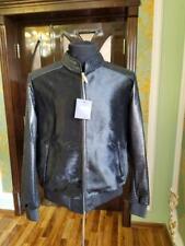 NEW Zilli  Pony  Python Leather Jacket, Black, Size: L
