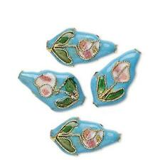 7348 Cloisonne Teardrop Bead Multi 20mm PK4 *UK EBAY SHOP*
