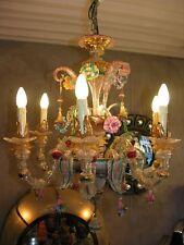 Superbe lustre murano en parfait état  , 6 branches