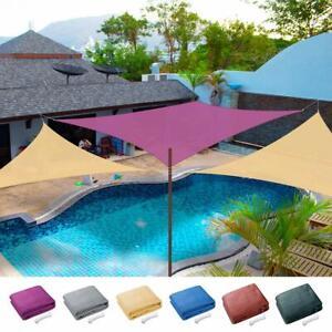 Sun Shade Sail Outdoor Top Canopy Patio 11' 16.5' Triangle 18' Square UV Block