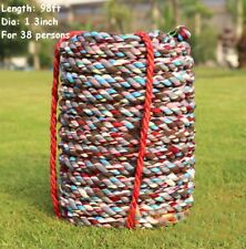 98 feet(30m)Tug Of War Rope Outdoor Sport for 38 Children Team Work Game Tool