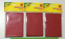 3x 10 Crayola Felt Sheets Assortment - 30 sheets in 5 colours