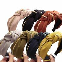 Fashion Women Girl Headband Twist Hairband Knot Cross Tie Wide Hair Band Hoop