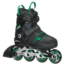 K2 Sk8 Hero Boa Alu Youth Inline skate Black /Green adjustable Us size 4-8 Nib