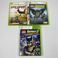 LEGO Batman The Videogame/Pure Microsoft Xbox 360 & Batman DC Super Heroes Games