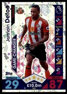 Match Attax 2016-2017 Jermain Defoe Sunderland Game Changer No. 387