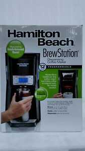 BrewStation 12-Cup Black S Steel Drip Coffee Maker w/ Removable Res by Hamilton